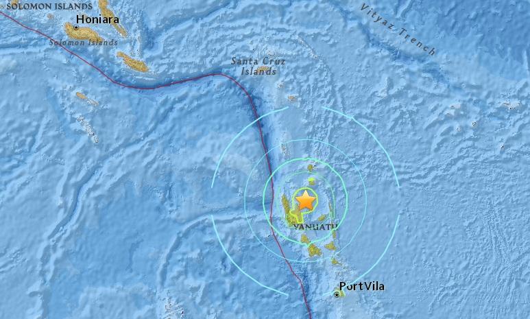 """แผ่นดินไหว 7.1 เขย่า """"วานูอาตู"""" ไม่มีประกาศเตือนสึนามิ"""