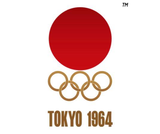 โลโก้การเป็นเจ้าภาพโอลิมปิกเมื่อปี 1964 ที่ได้รับการยกย่องว่า เรียบง่ายแต่สง่างาม