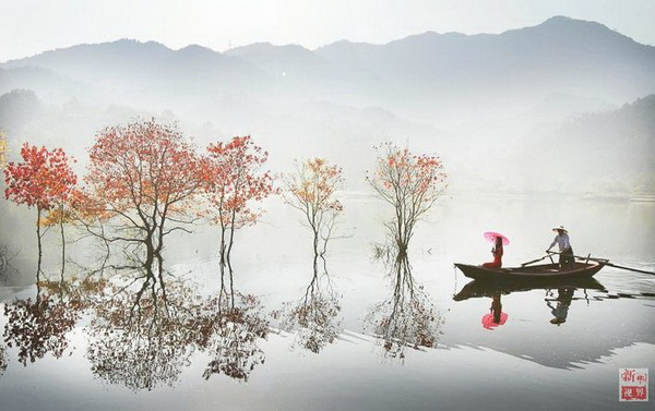 อำเภอหลัวเถียน เมืองหวงกัง มณฑลหูเป่ย (ภาพซินหวา)
