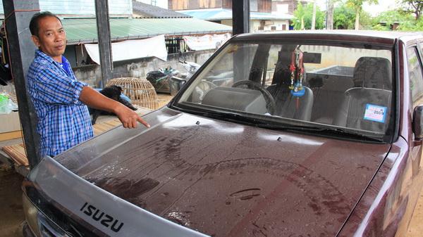 ผลการค้นหารูปภาพสำหรับ ฮือฮา...รอยพญานาคโผล่บนรถกระบะ