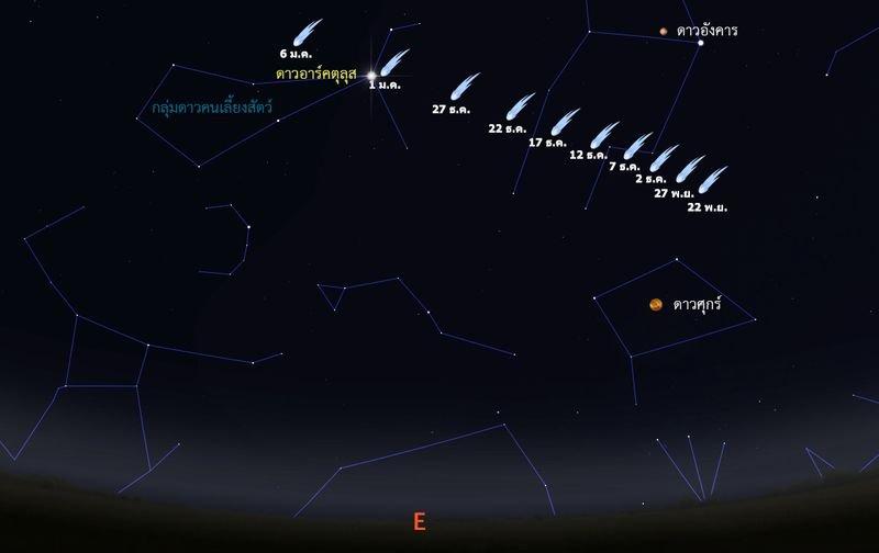 ชวนจับตาดาวหางแคทาลินาตั้งแต่ 15 พ.ย.จนถึงช่วงปีใหม่