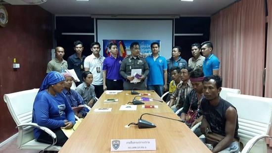 จับ 7 แรงงานพม่าผิด พ.ร.บ.ทำงานคนต่างด้าว