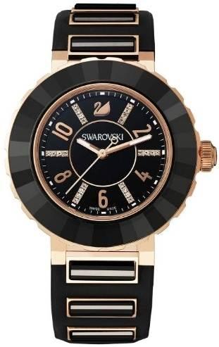 Swarovski รุ่น New Octea Sport Black Rose Gold Tone Watch มาพร้อมหน้าปัดสีทองสุดหรูหรา
