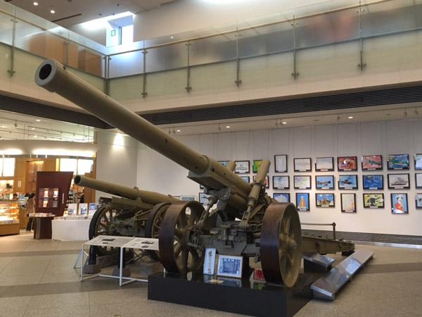 ปืนใหญ่จัดแสดงในพิพิธภัณฑ์