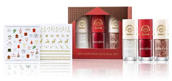 2015 Christmas Eco Nail Set ราคา 430 บาท จาก Innisfree