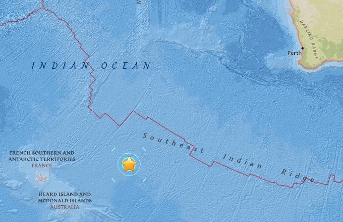 """แผ่นดินไหว 7.1 เขย่ากลาง """"มหาสมุทรอินเดียใต้"""" ไร้คำเตือนสึนามิ"""