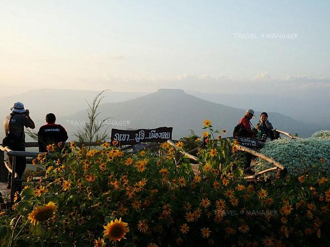จุดชมวิวภูป่าเปาะ มองเห็นภูหอ หรือฟูจิเมืองเลย