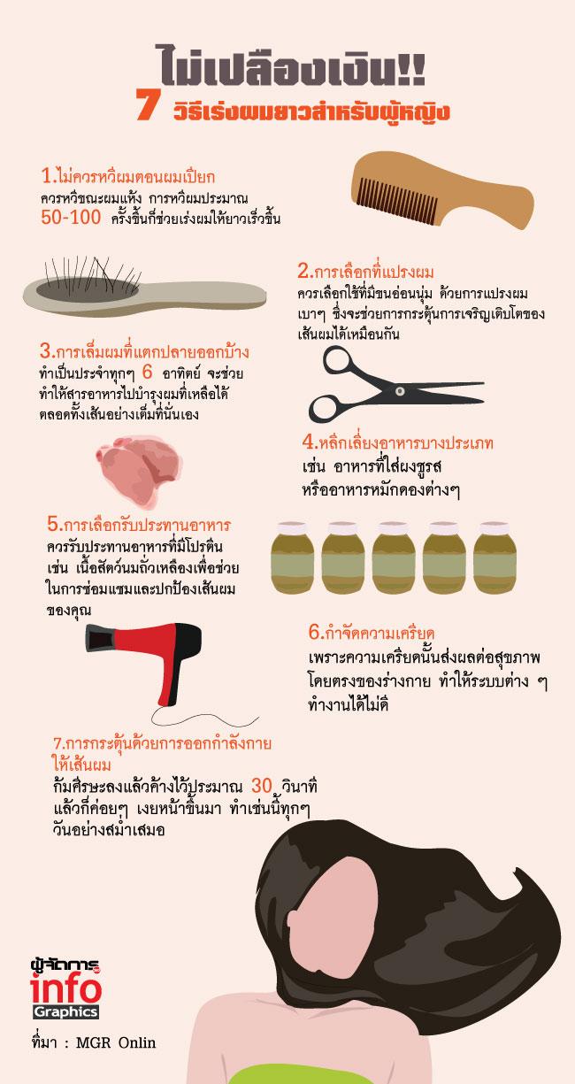 ไม่เปลืองเงิน!! 7 วิธีเร่งผมยาวสำหรับผู้หญิง