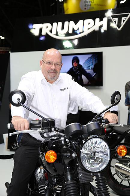 Mr. Peter Coates (MD) on Bonneville T120 Black