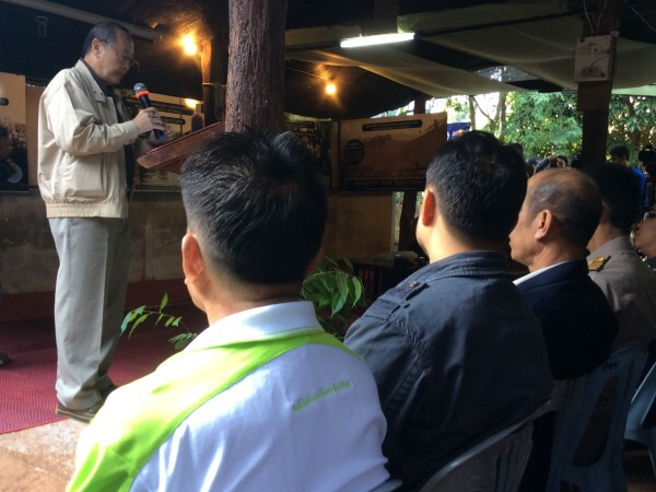 ดร.สุเมธ ตันติเวชกุล ประธานกรรมการมูลนิธิอุทกพัฒน์  ในพระบรมราชูปถัมภ์ เป็นประธานในพิธีเปิด
