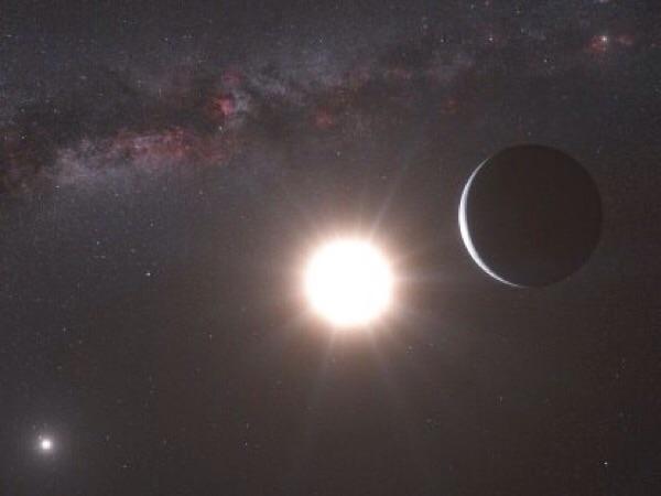 ดาวฤกษ์ต่างระบบ 47 เออเซย์ มาจอริส มีดาวบริวาร 2 ดวงคือ เออเซย์ มาจอริสบี และเออเซย์ มาจอริสซี (Credit Photo: skysurvey.org/Nick Risinger)