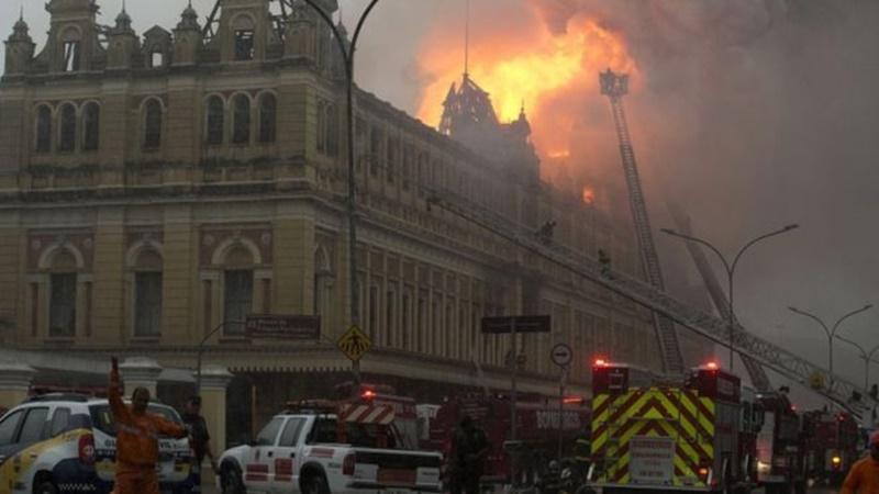 เกิดเพลิงไหม้พิพิธภัณฑ์ภาษาโปรตุเกสในบราซิลเสียหายหนัก แต่ไร้เจ็บ-ตาย