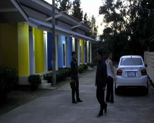 รีสอร์ทแห่งหนึ่งกลางเมืองจันทบุรี ที่คนร้ายเข้ามาขโมยทีวี