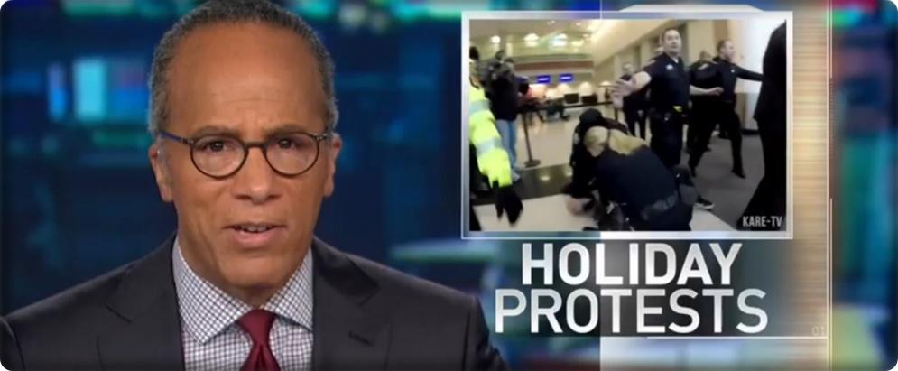 """In Pics & Clips : Black Lives Matter เรียกร้องยุติธรรมให้ผิวสี รับคริสต์มาส """"ปิดห้างมอลอเมริกา-ปิดไฮเวย์แอลเอ-บุกสนามบินมินนิอาโปลิส-ขึ้นฟรีเวย์ซานฟรานซิสโก"""""""