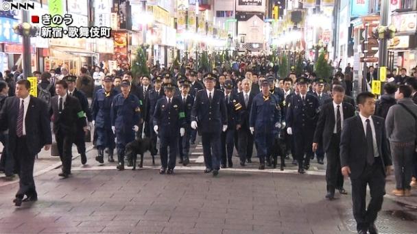ตำรวจญี่ปุ่นระดมพล 25,000นายลาดตระเวนป้องกันเหตุช่วงปีใหม่ (ชมคลิป)