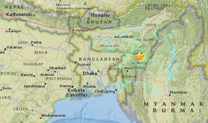 """แผ่นดินไหว 6.7 เขย่าพรมแดน """"อินเดีย-พม่า"""" ชาวบ้านดับอย่างน้อย 6 ราย"""