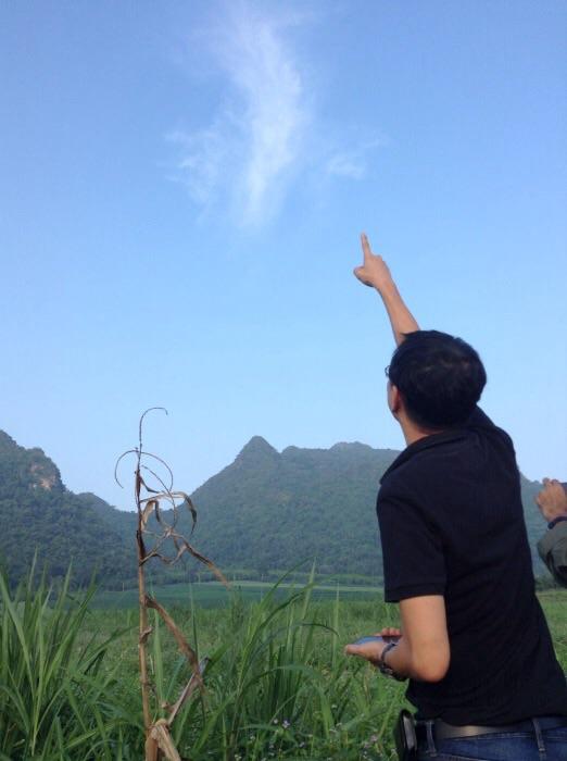 ภาพระหว่างภารกิจตามหาอุกกาบาตที่ผ่านชั้นบรรยากาศเหนือฟ้าเมืองไทยเมื่อ 7ก.ย.58