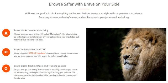 """ทำความรู้จัก """"Brave"""" เบราว์เซอร์พันธุ์ใหม่เด่นเรื่องงดแสดงโฆษณา"""
