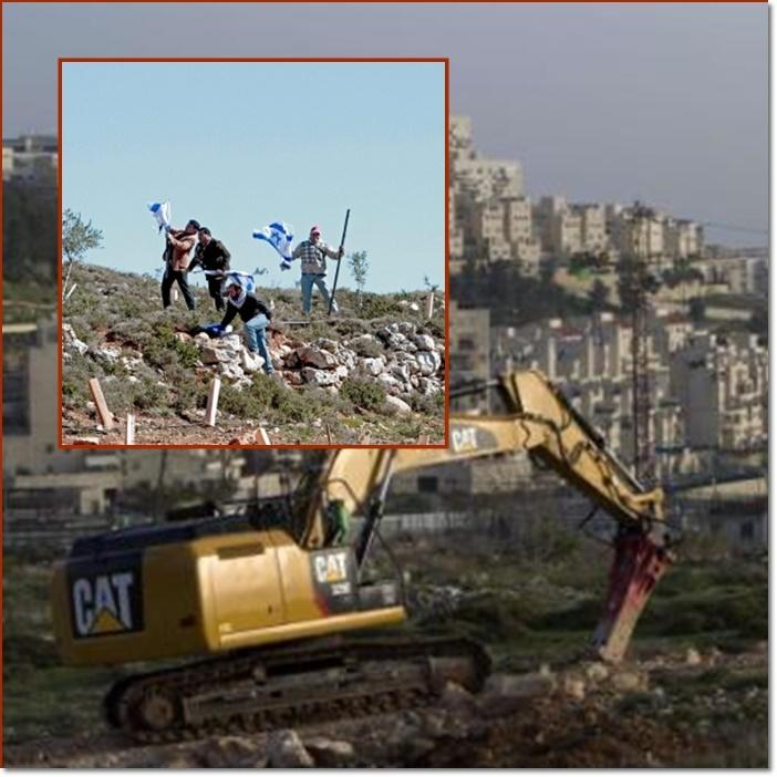 """อิสราเอลเดินหน้าลุยยึด """"แผ่นดินเวสต์แบงก์"""" ต่อ ไม่สนทั้งยูเอ็นและอียู ใช้รถแบ็กโฮพังตึกสหภาพยุโรปจนราบ"""