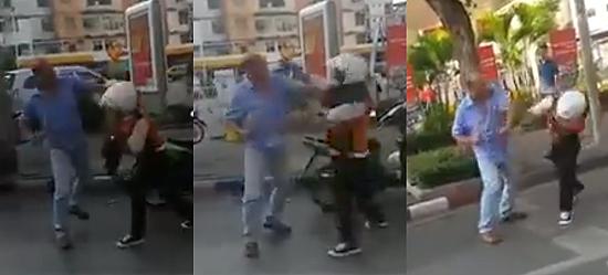 """ก็มึงชนกู! ชมคลิป """"วินมอเตอร์ไซค์ vs โชเฟอร์แท็กซี่"""" สาวหมัดแลกกันนัวกลางถนน"""