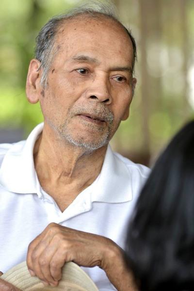 เขมานันทะ หรือ โกวิท เอนกชัย   ในวัย 77 ย่าง 78 ปี