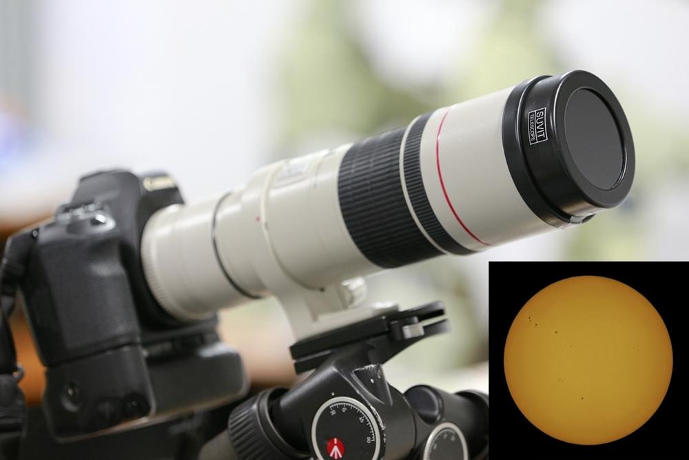 แผ่นกรองแสงดวงอาทิตย์แบบ Black polymer solar filter (สามารถสั่งซื้อได้ทางเฟซบุ๊ก : SUVIT-TELESCOPE (สุวิทย์ เทเลสโคป)