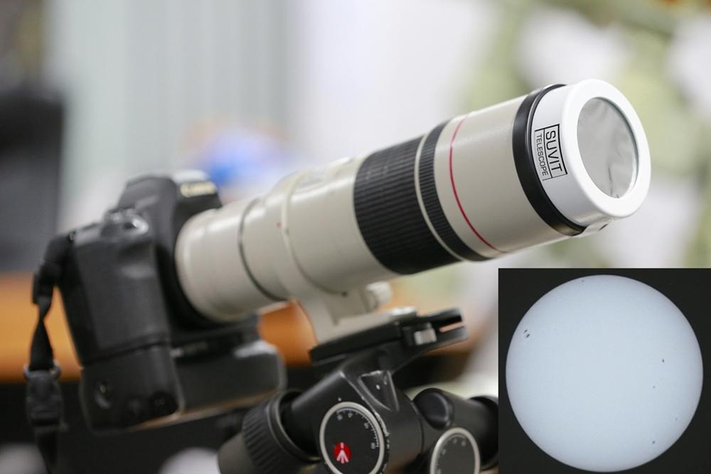 แผ่นกรองแสงดวงอาทิตย์แบบ Mylar solar filter (สามารถสั่งซื้อได้ทางเฟซบุ๊ก : SUVIT-TELESCOPE (สุวิทย์ เทเลสโคป)