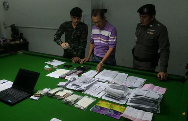 ทหารบุกจับโต๊ะสนุ๊กย่านลำลูกกา เปิดพนันบอล-หวยออนไลน์  รวบผู้ต้องหากว่า 18 ราย