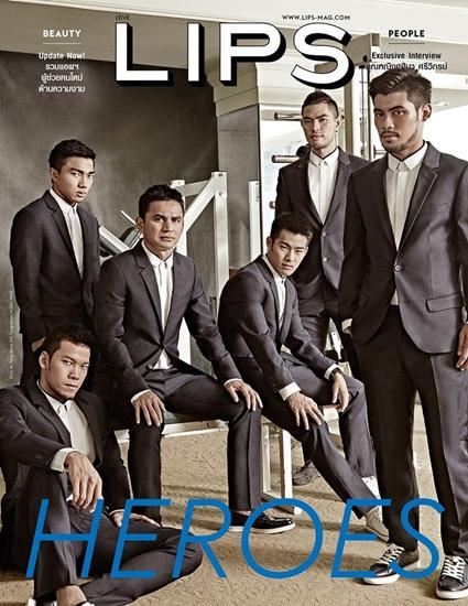 ซิโก้นำทีม 5 หนุ่มช้างศึกไทยขวัญใจสาวๆ ถ่ายแฟชั่นสุดเท่ใน LIPS ฉบับล่าสุด