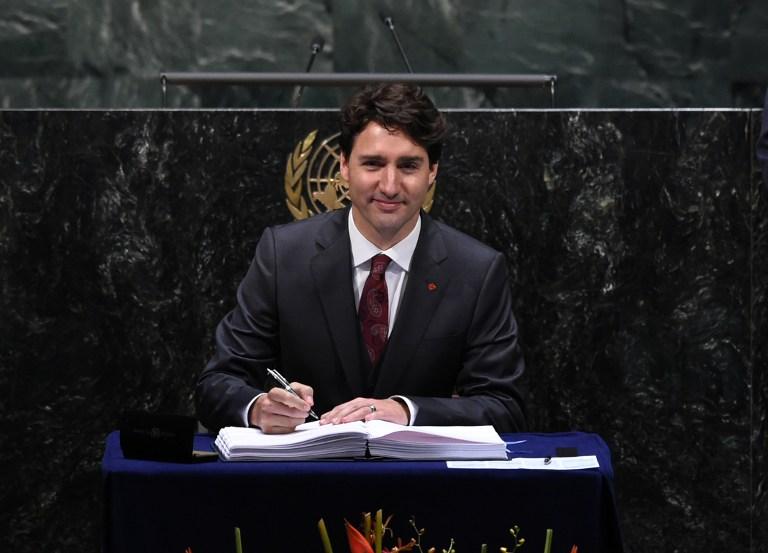 นายกรัฐมนตรี จัสติน ทรูโด แห่งแคนาดา