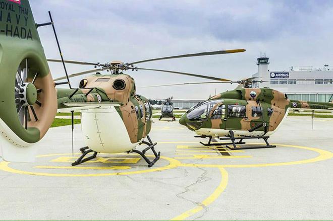 ฮ.ลายพรางราชนาวีไทย H145M สุดทันสมัย แอร์บัสฯ ส่งให้ 2 ลำแรก