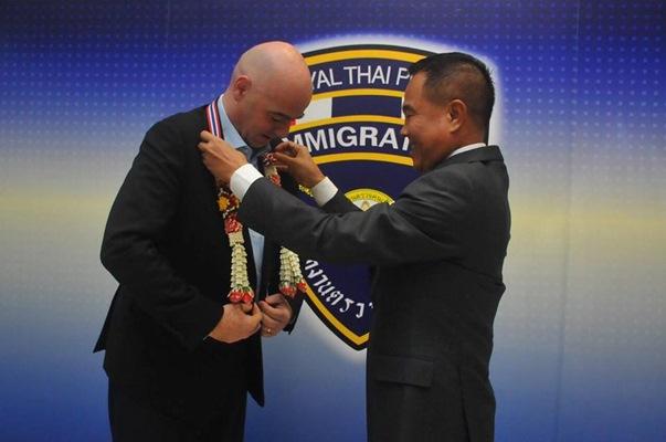 จานนี อินฟานติโน ประธานฟีฟ่า เดินทางมาเยือนประเทศไทย