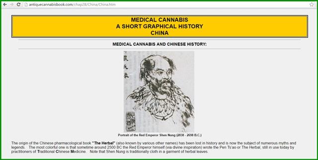 กัญชาเป็นยารักษาโรคมาเป็นพันปีแล้ว ประวัติศาสตร์จีนบันทึกการใช้ยามายาวนานมาก