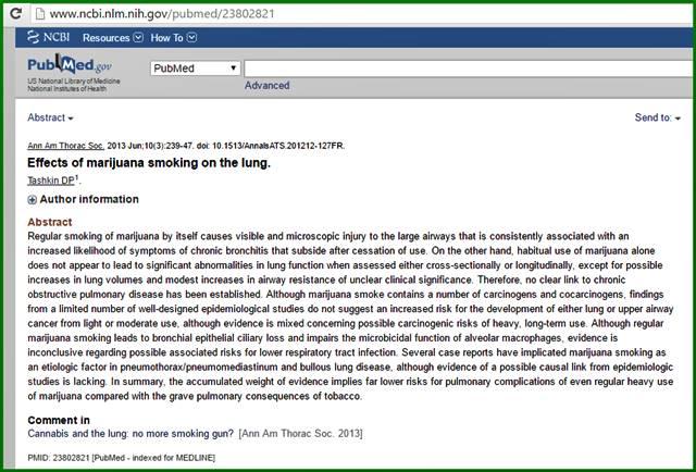 การสูบกัญชาไม่มีความเสี่ยงกับการที่จะทำให้เกิดมะเร็งปอด