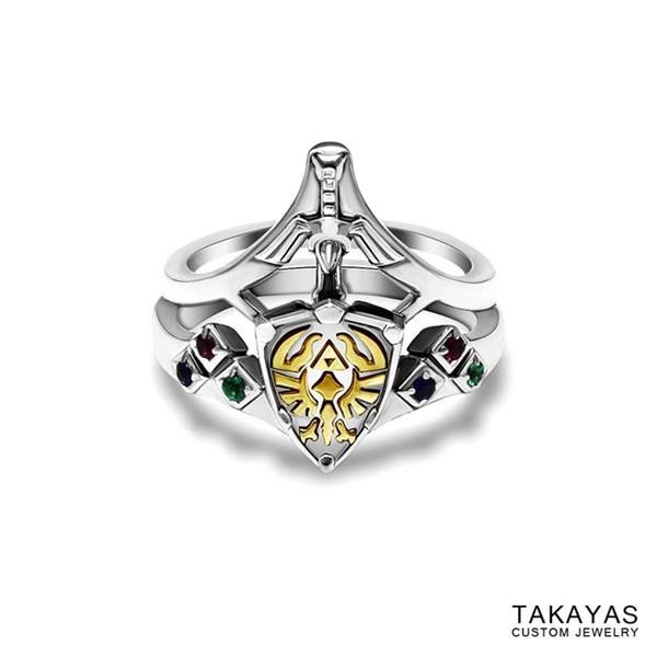 """งดงาม! แหวนแต่งงานดาบคู่โล่จากเกม """"เซลด้า"""""""