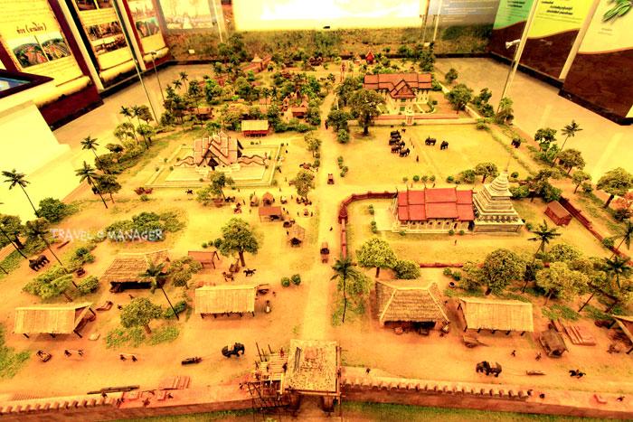 โมเดลแสดงสภาพของเมืองน่านในอดีตที่หออัตลักษณ์นครน่าน