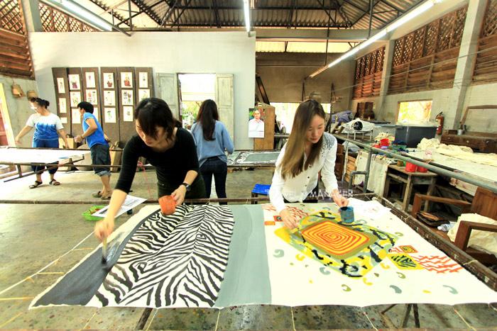 กิจกรรม DIY วาดลวดลายบนผืนผ้าที่บายศรีครีเอชั่น จ.แพร่