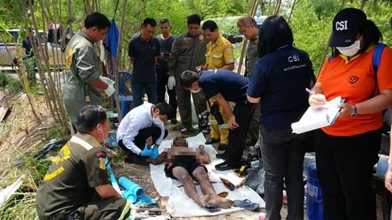 2 หนุ่มคนงานไทย-พม่าใช้แท่งเหล็กช็อตปลาถูกไฟดูดดับ คาดไฟฟ้ารั่ว