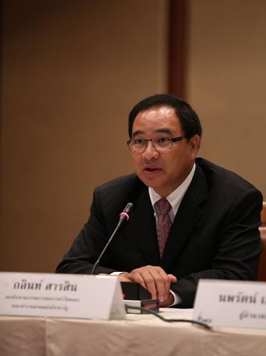 นายกลินท์ สารสิน รองประธานกรรมการหอการค้าไทย และคณะทำงานสานพลังประชารัฐด้านการส่งเสริมการท่องเที่ยวและไมซ์