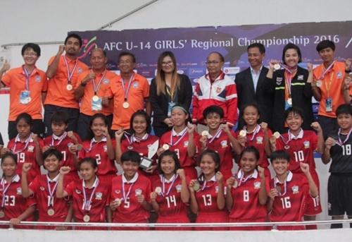บอลหญิง ยู14 ได้แชมป์อาเซียนเป็นสมัยทีี่ 2