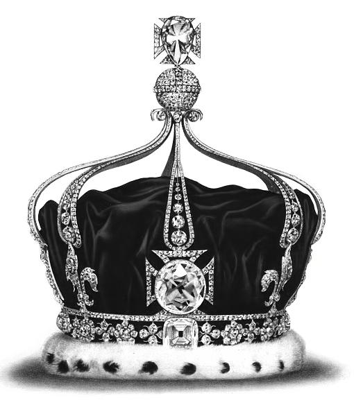 เพชร Koh-i-noor บนมงกุฏ Queen Mary