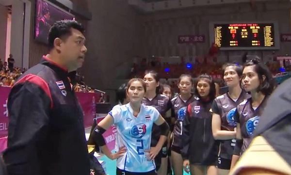 สาวไทยต้านไม่ไหวพ่ายจีนประเดิมลูกยางWGP