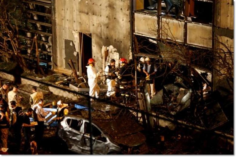 """ระเบิดโจมตีสำนักงานแบงก์ใหญ่ใจกลางเบรุต มหาดไทยเลบานอนรีบสรุป """"ไม่ใช่ฝีมือก่อการร้าย IS"""""""