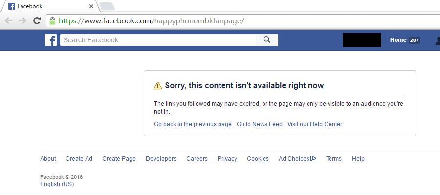 5 ล้านไลก์หายวับ! เฟซบุ๊ก HappyPhoneMBK ปลิว