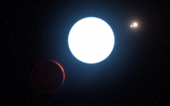 Scientists discover strange planet with three stars