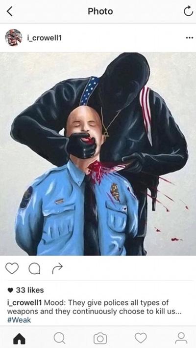 """ตัววิ่ง """"บราวน์ส"""" ขอโทษโพสต์รูปตำรวจถูกเชือด เหตุยิงคนผิวสี"""
