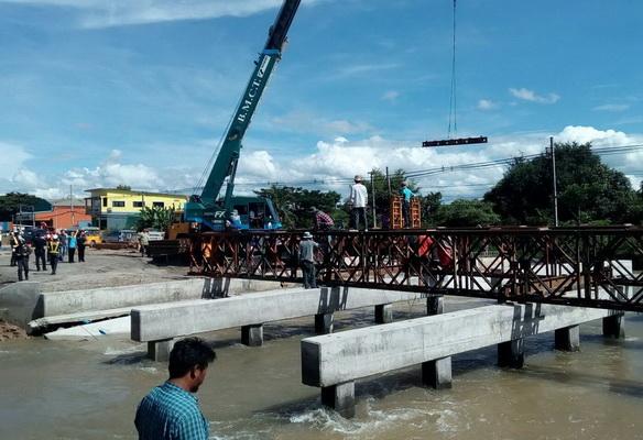 หนองบัวลำภูแก้ปัญหาติดตั้งสะพานแบริ่งเชื่อมทางหลวง 210