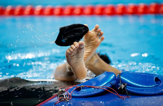 Japanese man, 73, in record swimming bid