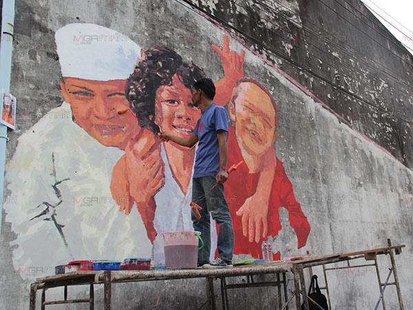 เดินหน้าเนรมิตฝาผนังบนถนน 3 สาย ย่านเมืองเก่าสงขลา Street Arts กระตุ้นท่องเที่ยว