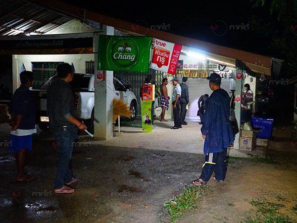คนร้ายใช้อาวุธปืนสงครามยิงถล่มร้านขายของชำกลางดึก โชคดีไร้เจ็บที่พัทลุง